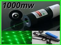 1000mw 1w green laser pointers 532nm burn match+key++changer+box+FREE SHIPPINGnew