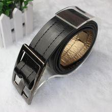Men Fashion PU Leather Black White Camel Length 103cm Waist Belt for Men Women Brand Luxury Men's Accessories