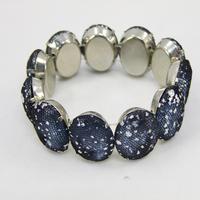 6 PCS/ Lot Big Resin Beads in Mesh 6 cOLORS Female Bracelet  Bangles