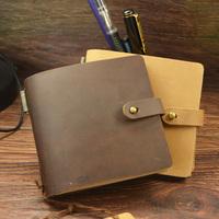 Traveler mini vintage handmade diy notepad fashion diary genuine leather notebook vintage