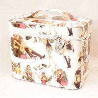 Women's handbag bags plaid professional cosmetic bag box big capacity storage handbag cosmetic finishing box KAX096