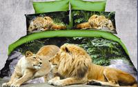green brown white gray animal horse lion leopard tiger Cotton queen size Duvet / Quilt Cover Bedding sets sheet pillowcase