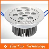 Free shipping Led Ceiling Light 9W 900LM LED Recessed Ceiling Down Spot Light 85-265V 10pcs/lot Wholesale
