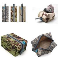 3  pcs/Lot  _ Waterproof Camo Traveling Gym Laundry Shoes Storage Bag Pouch random pattern