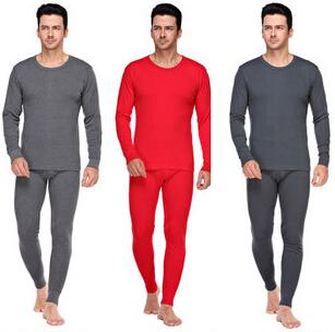 Hot 2014 Autumn Winter Men's long johns Slim solid round neck thermal men underwear sets Thin rendering suit L,XL,XXL 10.13-25(China (Mainland))