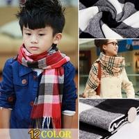 Autumn Winter Kids Warm Faux Cashmere Chidren Long Thicken Soft Scarf Shawl Wrap Shawls And Scarves#65918