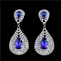 New 2014 Fashion multicolor optional teardrop-shaped earrings  B492
