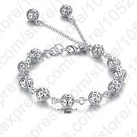 2015 New Arrial Accessoriess Genuine 925 Sterling Silver Jewellery Bracelet 925 Silver Pierced Beads Ball Fine Bracelets