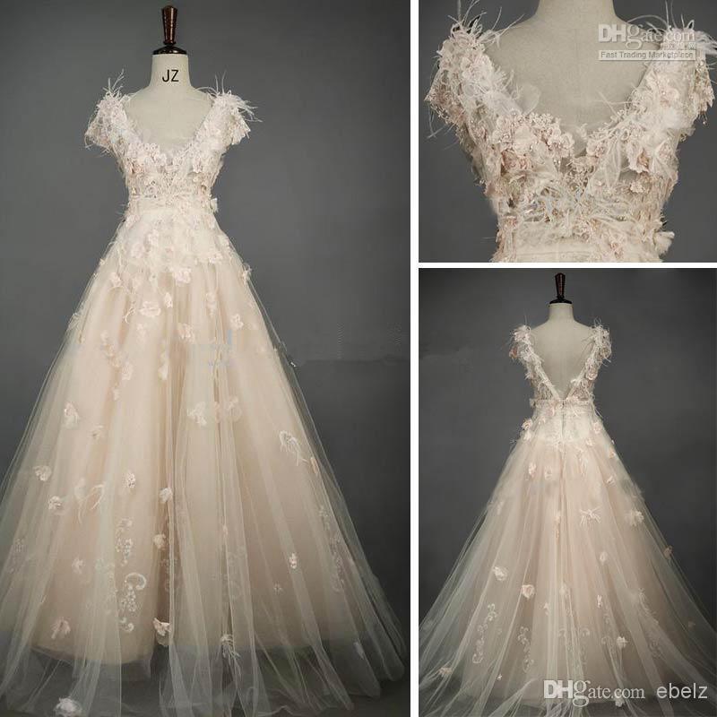 Blush Tulle Wedding Dress : Popular blush bridal gowns aliexpress