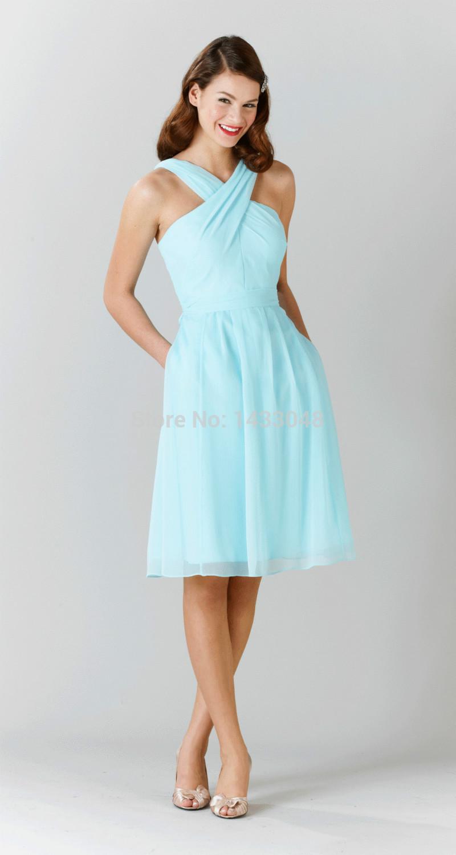 Halter Top Wedding Dresses With Pockets - Junoir Bridesmaid Dresses