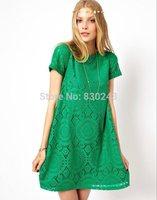 Superb! 1PC Women Short Sleeve Lace Dresses Ladies Party Loose Princess Dress Alipower