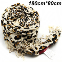 180cm*80cm free shipping brand print big size best quality viscose material long women fashion lepard scarf