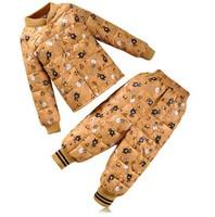 2014 new children's down jacket Liner Set boy girl baby baby wear winter two piece suit