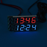 Car clock led clock voltage table car electronic table refit thermometer diy