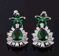 FREE SHIPPING South Korea Female Delicate Luxury Earrings  The Bride AAA zircon earrings