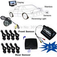 2014 Car Parking Sensor System( 4.3 inch car monitor+night vision camera+parking 8 sensors) avto parktronics