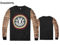 new famous skateboard brand element Sweatshirts leopard/leather full sleeve sweaters Autumn & Winter hip hop outwear clothing