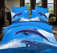 p21 blue white animal horse lion leopard tiger  Whale Cotton queen size Duvet / Quilt Cover Bedding sets sheet pillowcase
