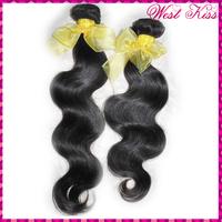 WestKiss Factory Sale 70% Off  grade 7A Raw human hairs 2 bundles deal laotian body wave virgin weaves NO corn-chip smell !!