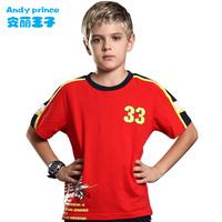 2014 summer boy 100% cotton o-neck child t-shirt children's clothing short-sleeve T-shirt