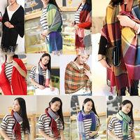 Hot Women Fashion Stylish Soft Artificial Wool Chiffon Scarf Warm Scarf Shawl