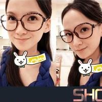 Butterfly glasses frame non-mainstream big box face-lift leopard print decoration Women framework lens