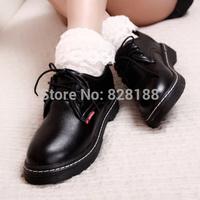 new vintage school style,classic black&white,increase,leather,platform shoes,Britpop popular women shoes