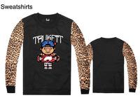 brand Trukfit round neck pullover fleece sweaters Autumn & Winter new leopard long sleeve Sweatshirts 100% cotton Size S -XXL