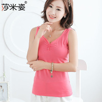 2014 Sale Cropped V Boob Tube Cinderela 1360 Sami Pose New Spring And Summer Multicolor Buckle Collar Camisole Female Backing V