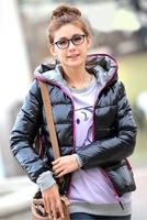 2014 autumn winter fashion women'coat hoody thermal wadded jacket cotton-padd Big Size outerwear&Parka Freeshipping LY1698