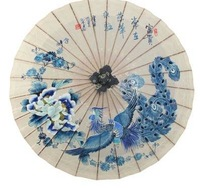 * riches and honour in the * hand-painted oiled paper umbrella Classical waterproof sunscreen