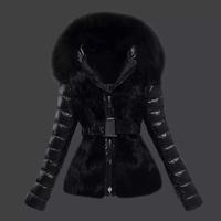 New Arrival Black Fur Coat Ladies Down Jacket Fur Collar Winter Jacket Coat Women Down Coat Fashion Warm Brand Lady Down Parkas