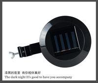 Multifunction Solar Powered 3 LED Outdoor Motion Sensor Waterproof Garden Lamp Light Black