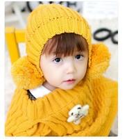 free shipping  NEW Fashion women keep warm Winter fashion warm thickening ball ball cap Children of wool knitted cap HYL38