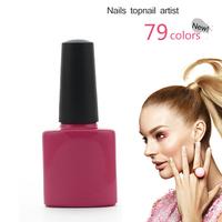 2014 New (8pcs/Lot)*7.3ml CND Shellac UV Nail Gel Polish Soak Off Nail Gel UV 30 Days Long Lasting 79Colors The Best Gel Polish
