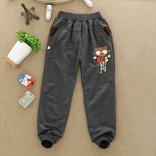 New 2014 Autumn Winter Letter Boys Clothing Full Length Children Harem Pants Boys Trousers Kids Terry Elastic Waist Casual Pants(China (Mainland))