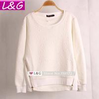 L&G Fashion Women Sweatshirt 2014 Hot Selling Lips Print Zipper Sweatshirt Hoodies Autumn Winter Casual Pullover Tops Sale 20055
