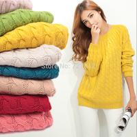 The new 2014 multicolor dress show thin round collar joker twist turtleneck sweater sweater coat