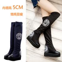 2014 elevator boots platform knee-length boots women's shoes platform boots female boots