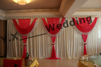 Include The Flower Swags Backdrop Drape With Sequin Fabric\Wedding Backdrop