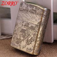 Hongkong lighters original Zorro riverside windproof lighter kerosene wholesale ZJ-003