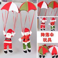 Christmas parachute snowman / santa claus dolls Christmas gift tree decoration