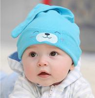 Hot Selling!!! Free Shipping  Child Sleep Hat Newborn Cap The Baby Kit Lens Cap Baby Cotton Cap