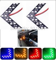 10PCS Car 14 SMD Arrow Lights Panels Lights Car Side Rearview Mirror Led Car Turn Signals Lights Decorative Light Accessories