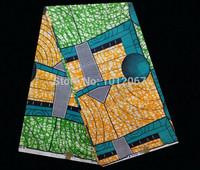 (6yards/lot) YW205! High quality African batik fabric !Free shipping 100% cotton batik textile online!