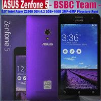 """Original ZenFone 5 Zenfone5 Z5 phone for Android 4.4.2 Corning Gorilla 3 Intel Z2560/Z2580 5"""" IPS Dual SIM 8MP 1GB 2GB 8GB 16GB"""