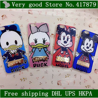 "Lovely Donald Duck Mickey Mouse TPU Victoria / 's Secret PINK Cover Case For Apple iphone6 iphone 6 4.7"" Phone Cases"