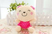 Free shipping mini size bear plush toy teddy bear plush doll 25cm size bear 5pair /lot Christmas gift