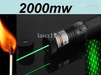 High power303 302 301 Wholesal Christmas gift Stable quality Laser 2000mW Green Laser Pointer Pen Burning Adjustable Focal Lengt