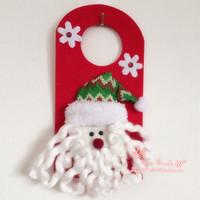 Hot sell 3d santa claus door trim Christmas door hanging decoration new year gift props